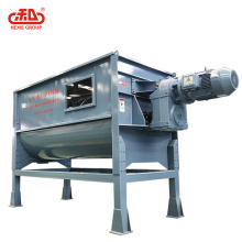 Horizontal ribbon mixer for powder-powder powder-liquid