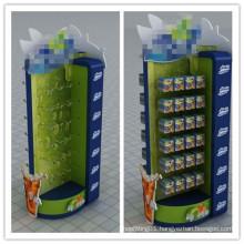 Floor Wooden Display Rack for Batteries, Chewing Gun etc