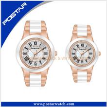 Casal elegante relógios de cerâmica para casal