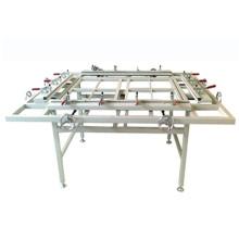Máquina de esticar de malha de quadro de impressão de tela de seda Tsm-1215A