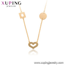 44919 xuping heart Environmental copper 18k gold plated necklace