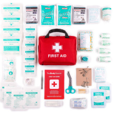 Red Portable Premium First Aid Kit Medical Travel