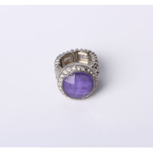 Anillo de la joyería de la manera del estiramiento con la piedra y los Rhinestones de la resina