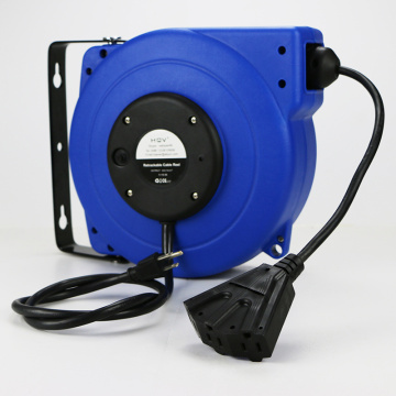 B 15m ceiling mounted or wall mounted automatic retractable cable reel drum extension cord reel