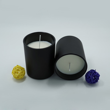 Soy Scented Strong Fragrance Mat Svart Glasburk Candle