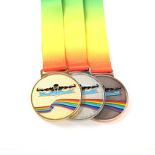 Promotion Factory Price Cheap Custom Metal Crafts Medals Manufacture  Gold Silver Plated Medal With Ribbon