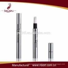 2015 cosméticos vacíos de moda de aluminio y plástico giro hasta la pluma de brillo de labios