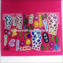 Etiquetas customizadas inchadas personalizadas por atacado para crianças, adesivos para desenhos animados para crianças