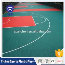 Piso de telha de quadra de basquete ao ar livre reciclado não-tóxico elástico