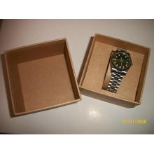Schwarz gefälschte Leder Armbanduhr Box für Uhren Verpackung