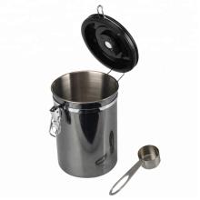 Contenedor de café hermético con ventana y cuchara