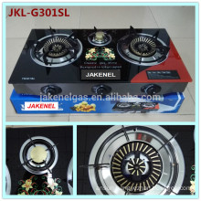 tempered glass top 3 burner gas cooker