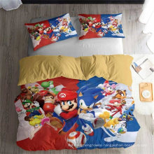 3D Printed Bedding Set with Super Mario, Also Suitable for Duvet Cover