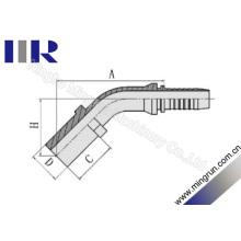 Encaixe de mangueira métrica de tubo flexível de cotovelo de 45 graus (50041)