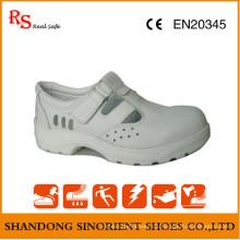 Weiß Micro Fiber Leder ESD Sicherheitsschuhe RS267