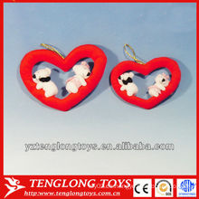 2014 mejores juguetes rellenos de peluche del corazón de la felpa de la venta para los regalos del día de tarjetas del día de San Valentín