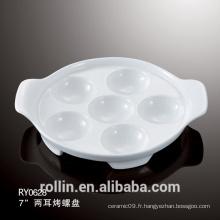 Bac d'escargot en porcelaine