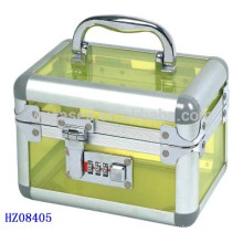 cosmetics acrylic case with combination lock