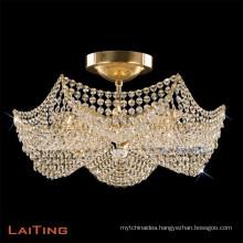 Elegant Indoor Gold/Crystal Chandelier Home Indoor Decorative Accessory Light