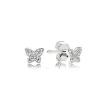 Venta al por mayor mini joyería de plata de los pendientes del perno prisionero de la mariposa 925 para las muchachas