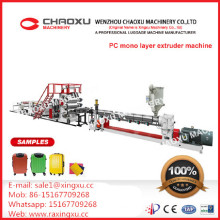 PC Luggage Single Layer Plastic Extruder Plate Sheet Production Line Machine