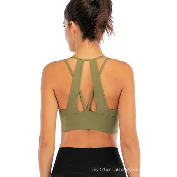 Sutiã de cinta de espaguete Yoga Sports Bra
