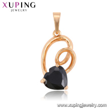 33294 горячая продажа элегантный ювелирные изделия в форме сердца красочные драгоценный камень кулон для дамы