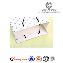Sweet white art paper gift bags for girls