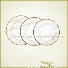 Staned cerâmica linha de ouro conjunto de placas