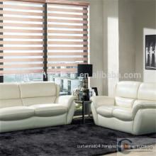Linen fabric zebra blind/electric roller blinds