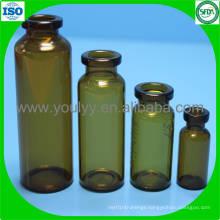 Amber Tubular Glass Vial