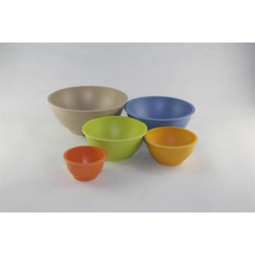 The salad bowls with round bottom