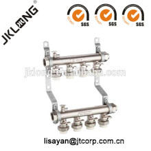 Manifold de latón con uniones PPR para sistema de calefacción
