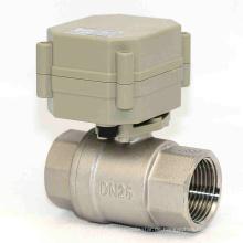 1 Zoll 3V / 5V / 12V / 24V Elektrisches Edelstahl-Wasserventil Motorisiertes Durchflussventil für Dringkwasser (T25-S2-A)
