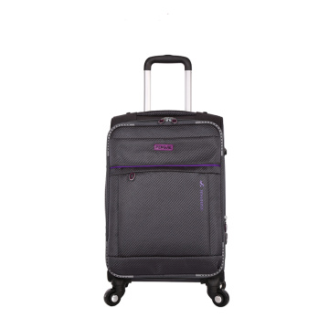 Fashion lightweight 3 piece set polyester eva luggage
