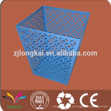 Moeda de arame metálico publicidade doméstica reciclar lixeira para lixo