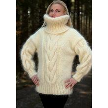 Neue Design Hand Knit Cowl Neck Pullover Pullover Pullover Strickjacke