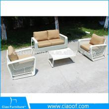 Ensemble de canapé de rotin blanc de tissage spécial de meubles de jardin en plein air