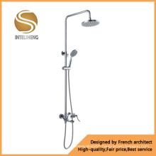 Bathroom Sanitary Ware Chrome Plated Zinc Handle Shower Set (ICD-10003)