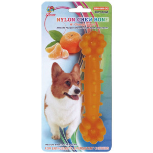 "Percell 6 ""Nylon Chien Os à mâcher parfum orange"