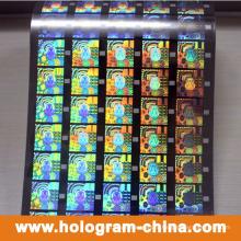 Красочные безопасности 3D Лазерная голограмма горячего тиснения