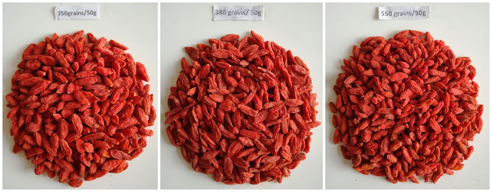 within 600 grains Goji berry