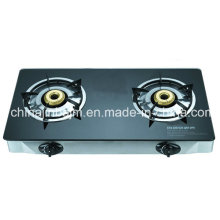 2 Burners Tempered Glass Top Stainless Steel Gas Cooker/Gas Stove