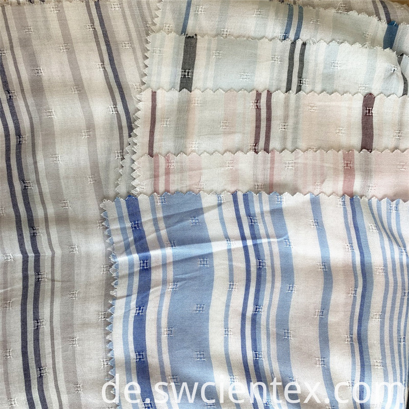 Rayon Jacquard Striped Yarn Dyed Blouse Fabrics