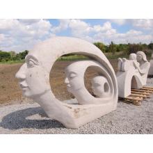 China-Lieferant moderne Marmor Mutter und Tochter Garten Skulptur