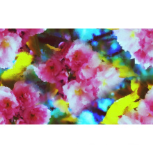 Tissu de maillots de bain extensible de fleur impression (ASQ091)
