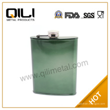 7oz metal frasco de la cadera con el color modificado para requisitos particulares
