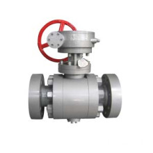 Ditempa baja Trunnion instalasi Ball Valve