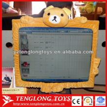 Плюшевые мультфильм медведь Shaped экран компьютера Обложка