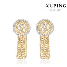 91305 Joyería de moda Simple arete de oro para mujeres en multicolores